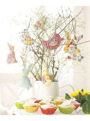 Sew Easter chick and bunny decorations • These will brighten up your Easter table year after year