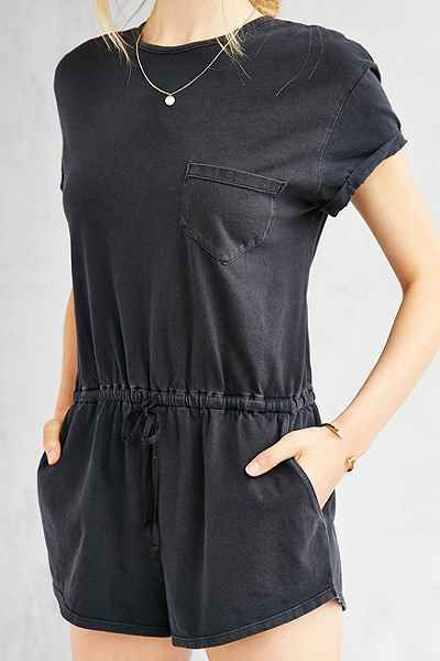 BDG Melinda Knit Drawstring Romper - Urban Outfitters
