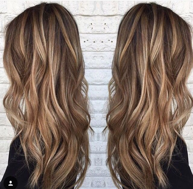 Image result for Dark Haircolor with Soft Brown Highlights: