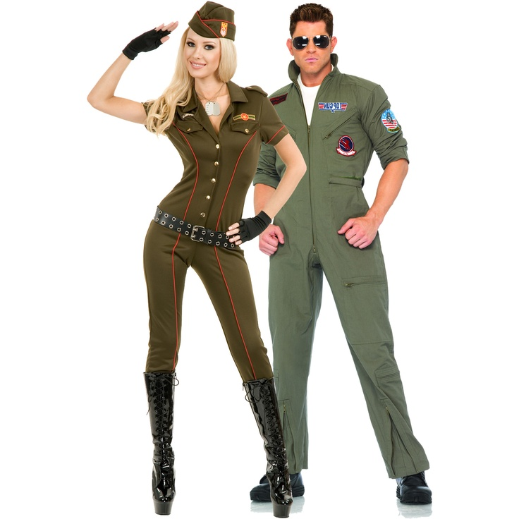 Air Force Angel and Air Force Jumpsuit Couples Costume - On Sale