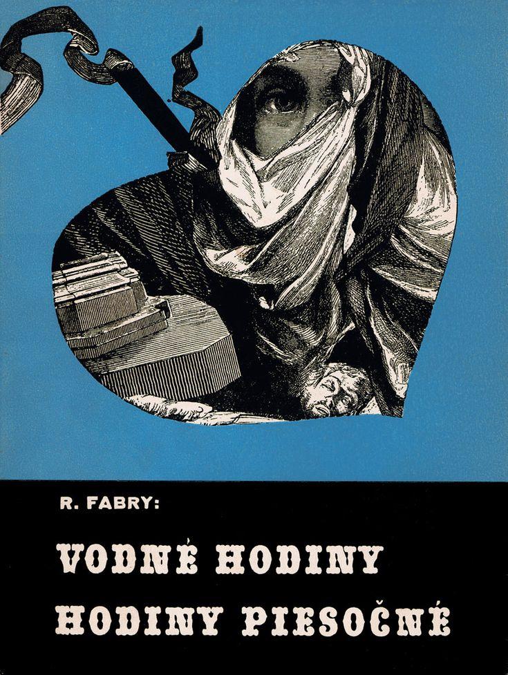 Slovak book cover, Rudolf Fabry- Vodne hodiny, hodiny piesocne - book cover, 1938