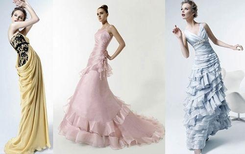 Rosa Clará ha sido de las primeras diseñadoras en dar rienda suelta al arco iris en los vestidos de novia