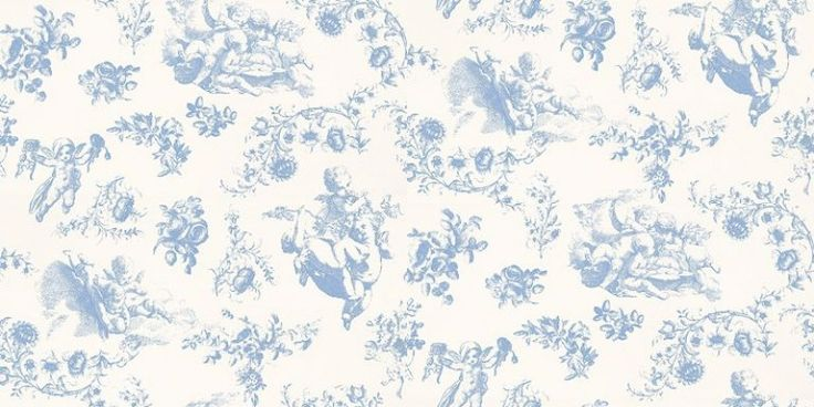 Cherub (2200503) - Paper Moon Wallpapers - Delightful, rotund cherubs cavorting in the clouds, surrounded by flower details in this classically inspired toile.  Shown in blue. Paste the wall. Please request a sample for a true colour match.  As this is a special order product, it may take 7-10 working days.