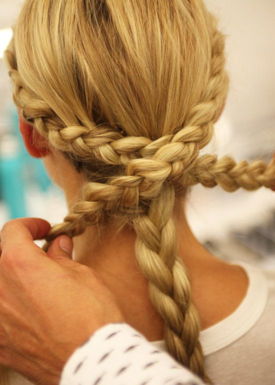 Click for the rest of the how-to to get a braided chignon fit for a bride! #wedding