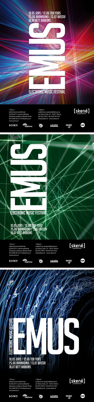 Electronic Music Posters. Personal project. Manifesti Musica Elettronica. Progetto personale.
