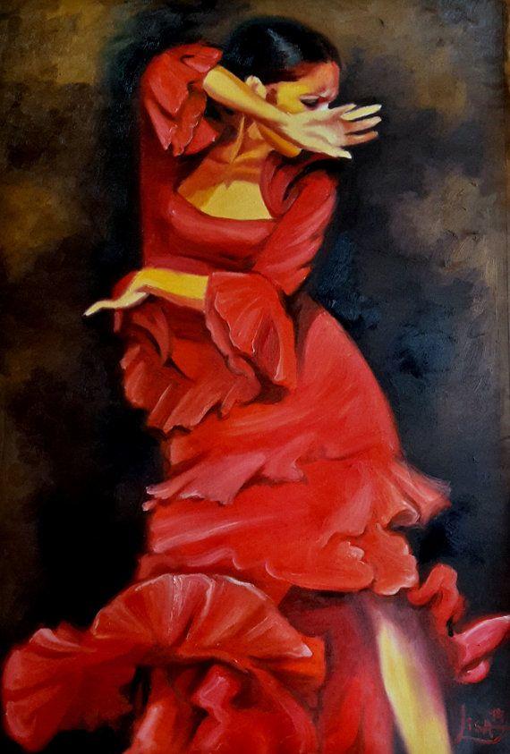 17 best images about passion de flamenco on pinterest maya spanish and - Peinture danseuse de flamenco ...