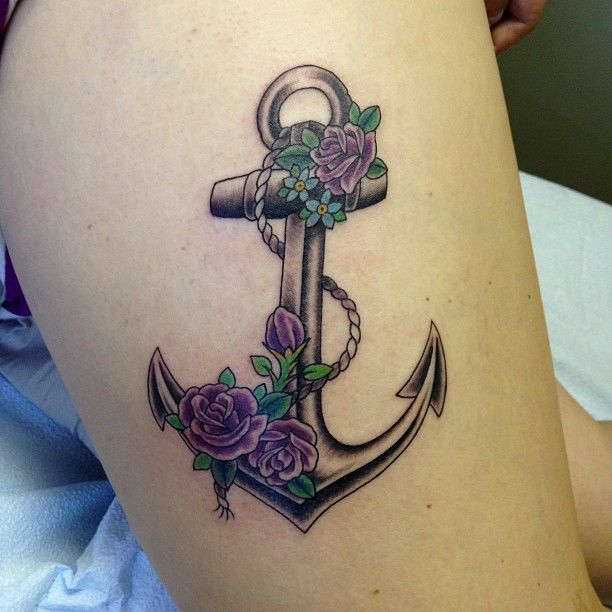 Rose Tattoos With Words Google Search: Roses On An Anchor - Google Search