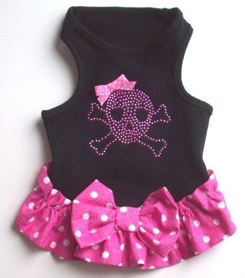 Dog Dress Black Wife Beater Dog Dress by miascloset on Etsy