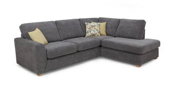 Astaire Left Hand Facing Arm Open End Corner Sofa Sherbet | DFS