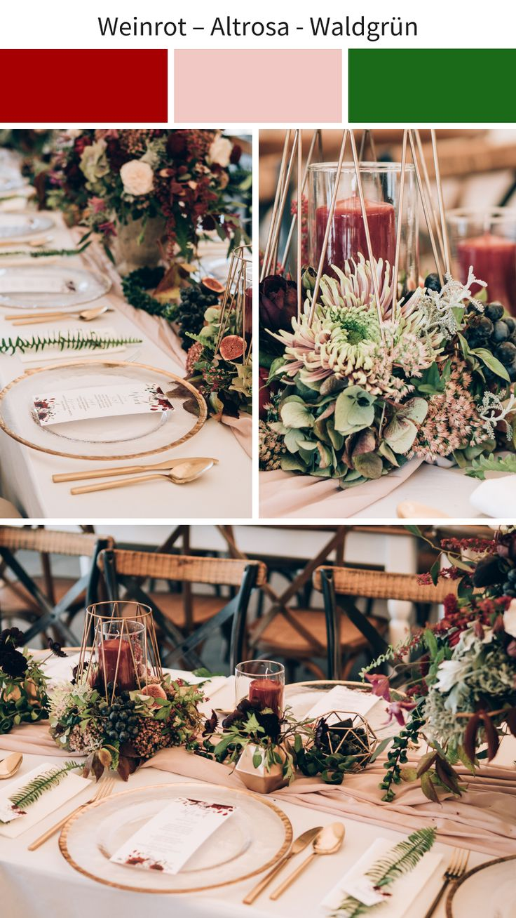 Stylish color concepts for a wedding in autumn or winter – Sini und Max heiraten