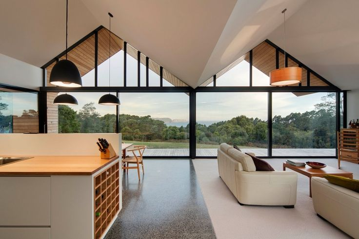 Unique or strange shaped windows? Sonata Design has a product that can fit any size or shape custom measured for your needs. Lookout House by Room11 (10)