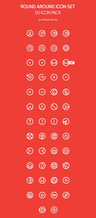 50 Free Rounded Icons