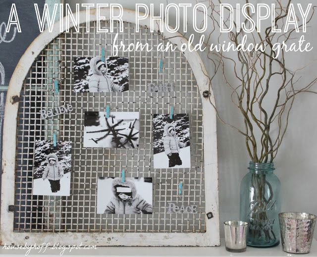 House by Hoff: A Winter Photo Display {It's $30 Thursday!}Display Photos, Windows Grateful, Old Windows, 30 Thursday, Photos Display, Great Ideas, Black White Photos, Diy Projects, Winter Photos