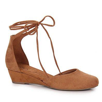 Sapato Anabela Feminino Lara - Caramelo