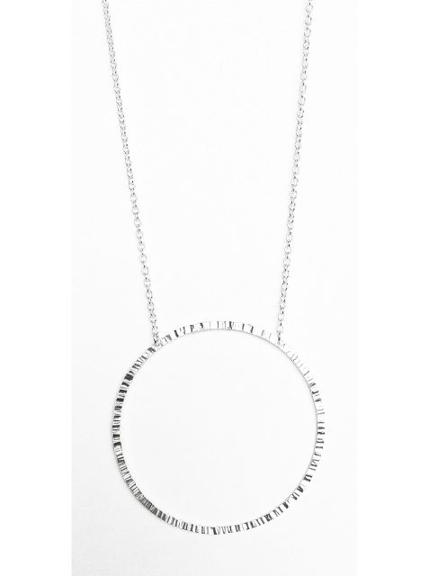 Max Circle Necklace - Sterling Silver
