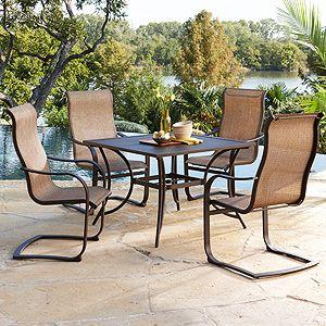 Bellevue Dining Set   Sling Spring Chairs | True Value