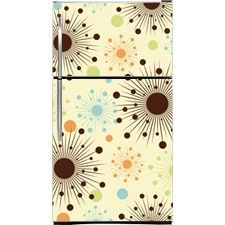 Sunburst Magnetic Top Freezer Refrigerator Covers | Pattern Magnet Skins, Covers and Panels are BIG magnetic sheets that cover Fridge Applia...