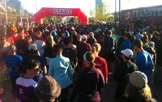 Calgary Marathon starting line.