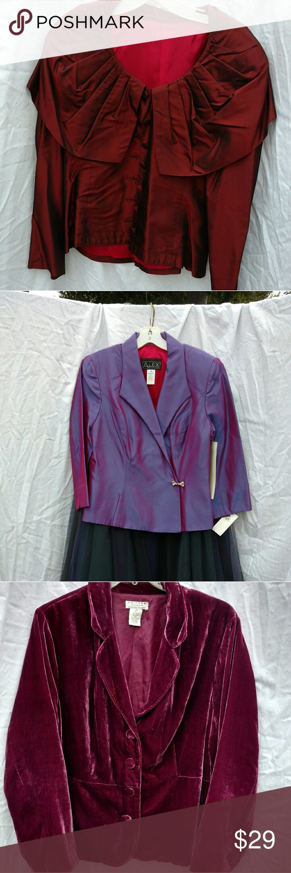 Womens evening jacket Purple with jewel closure Macy's Jackets & Coats