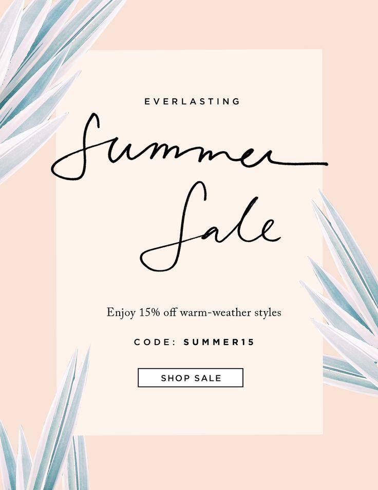 Animated newsletter - summer sale