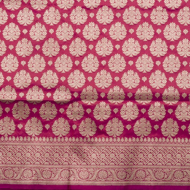 Shivangi Kasliwal Handwoven Banarasi Katan Silk Sari 1002120 - Sari / All Saris - Parisera