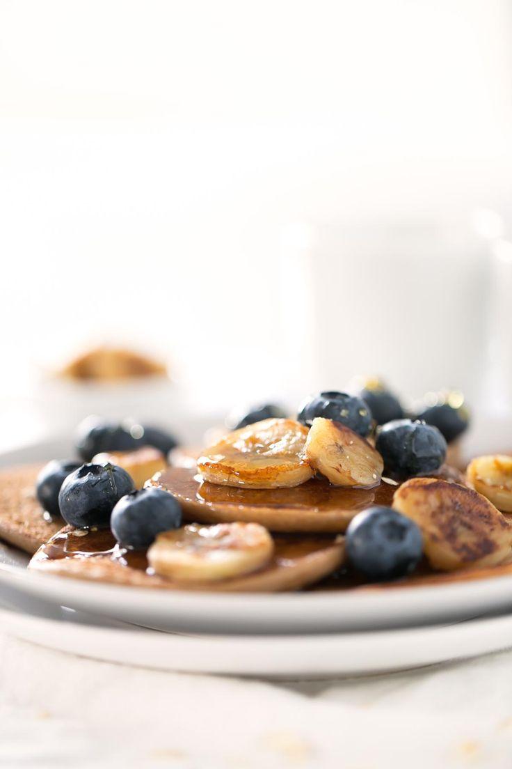 Estas tortitas veganas son un desayuno saludable ideal, tanto si te apetece dulce como salado.