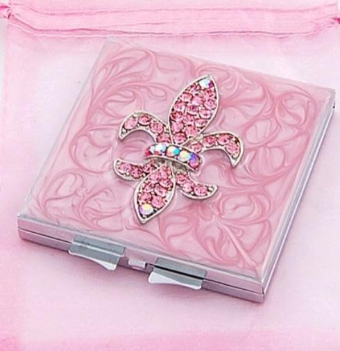 :): Lis Compact, Pink Colors, Pink Compact, Fleur De Li Compact, Di Lis, Compact Mirror, Pink Mirror, Fleur De Lis, Fleur Delis
