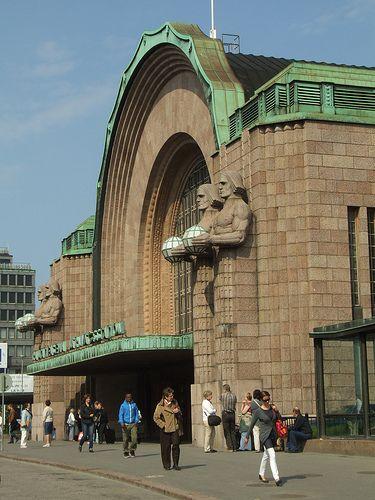 Central Railway Station, Helsinki, Finland Architect Eliel Saarinen, constructed in 1910-1914