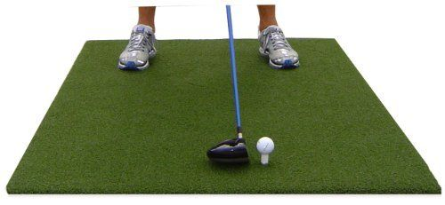 PGM3660 3' x 5' Emerald Par Golf Mat by All Turf Mats. $69.99. High quality, durable nylon turf with a commercial grade with foam backing. The thicker backing helps to minimize club shock when you drive your club into the mat. This is a great golf mat for family use and can be used on any surface, including concrete patios and wood decks.