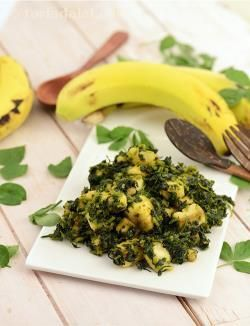 An interesting life is always a tasty blend of happiness and joy! this recipe, with a rare combination of mildly-bitter methi and pleasantly-sweet bananas, proves this point yet again. Elders of the gujarati community usually like recipes such as kela methi nu shaak where contrasting flavours complement each other. Serve with rotla, butter and green chillies.