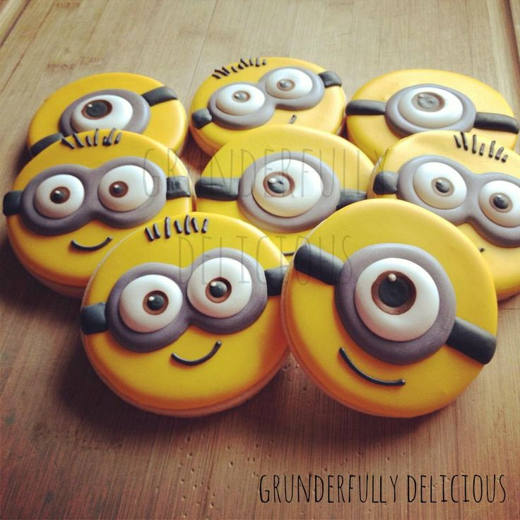 Minion Decorated cookies  by Grunderfully Delicious                                                                                                                                                      More