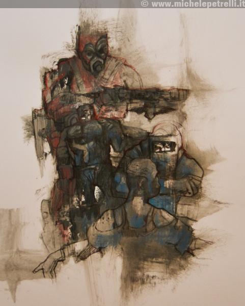 """""""ambush"""" - Michele Petrelli - mixed on paper - 2012 - For additional info: http://www.michelepetrelli.it/"""