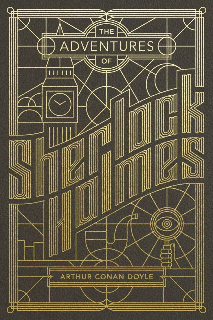Mysterious poster design with 3d text - Sherlock Holmes Cover Design By Jude Landry Bender Bound