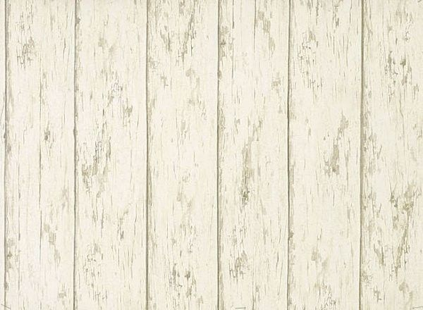 Weathered Barn Wood : Weathered Barn Wood Off White Brown Wallpaper Double Roll  eBay