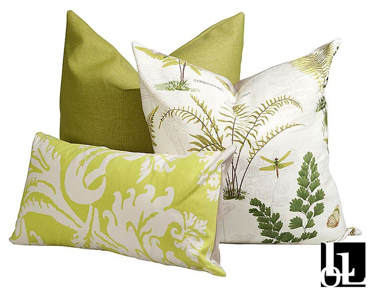 Cheeky Fern, Botanical and Damask Green Scatter Cushions at Loads of Living
