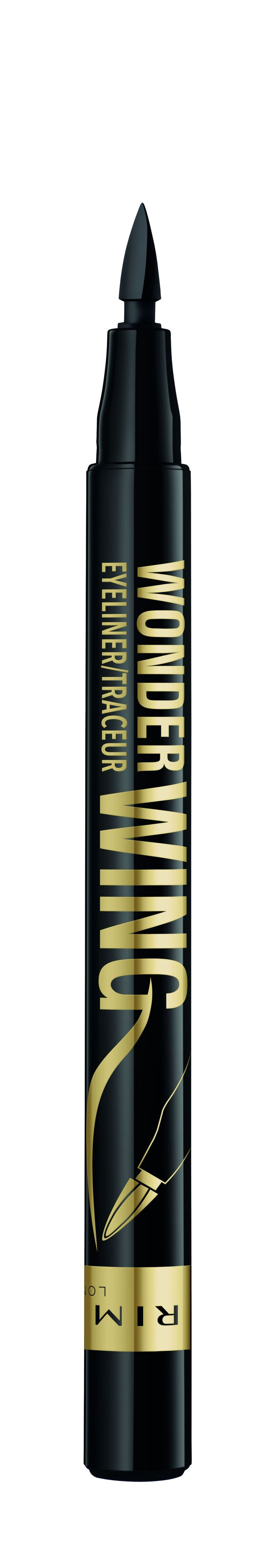 The liquid liner for the cat-eye inept. Use the pigmented felt tip to line your eyes as usual, then slant the pen ever so slightly to stamp on a precise wing.  Rimmel London Wonder Wing Eyeliner Stamp, $6.99, available January 2018 at mass retailers.