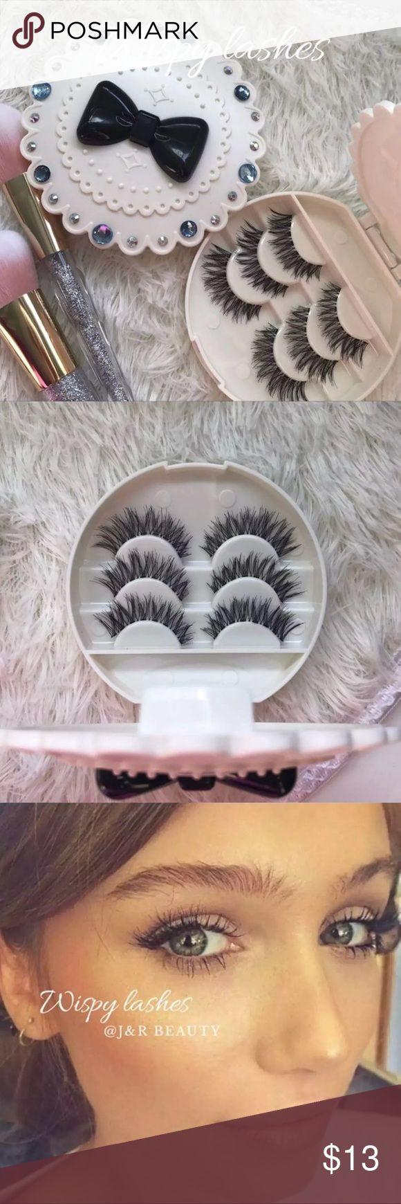 Cinderella Eyelash Case + 3WSP Lashes All brand new include ✨3 kinds of Wispy eyelashes  ✨Eyelash Case   +$2 Add on eyelash Applicator  +$3 Add on eyelash glue Please message me if you want to add them.    # tags Iconic, mink, red cherry eyelashes, house of lashes, doll, kawaii, case, full, natural,  Koko, Ardell, wispies, Demi , makeup,   Ship within 24 hours ❣️ Makeup False Eyelashes
