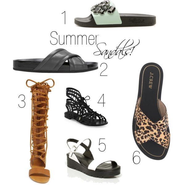 Summer sandals by aleesha-h on Polyvore featuring Joie, Loeffler Randall, Vince, Free People and J.Crew