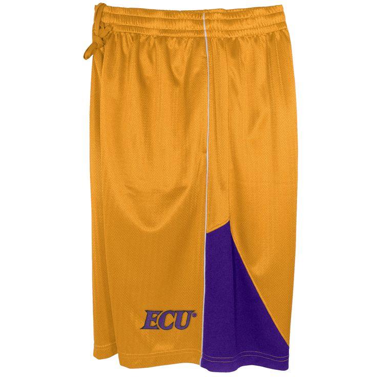 NCAA East Carolina Pirates Basketball Shorts, Men's, Size: Medium, Yellow