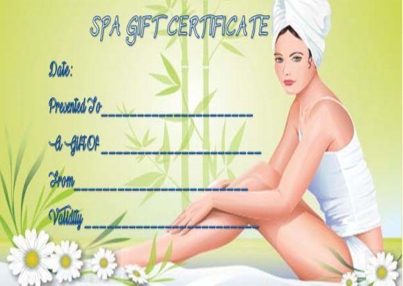 Massage Gift Certificate Templates Free Printable Spa Gift Certificate Massage Gift Certificate Spa Gifts Spa gift certificate templates