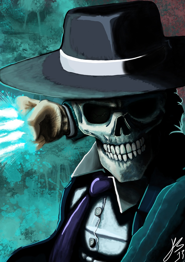 My very first piece of Digital Art using a Bamboo Tablet. Oh yeah, if your wondering what or who the hell Skulduggery Pleasant is, he is a skeleton detective from a series of books. P.S. This took around ten grueling hours but was well worth it!!! Jason Bartlett ©