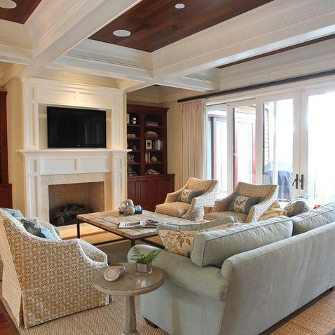 Kiawah Family Home - transitional - living room - charleston - Margaret Donaldson Interiors