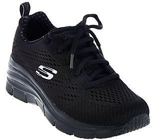 Skechers Skech-Knit Wedge Sneakers - Statement Piece