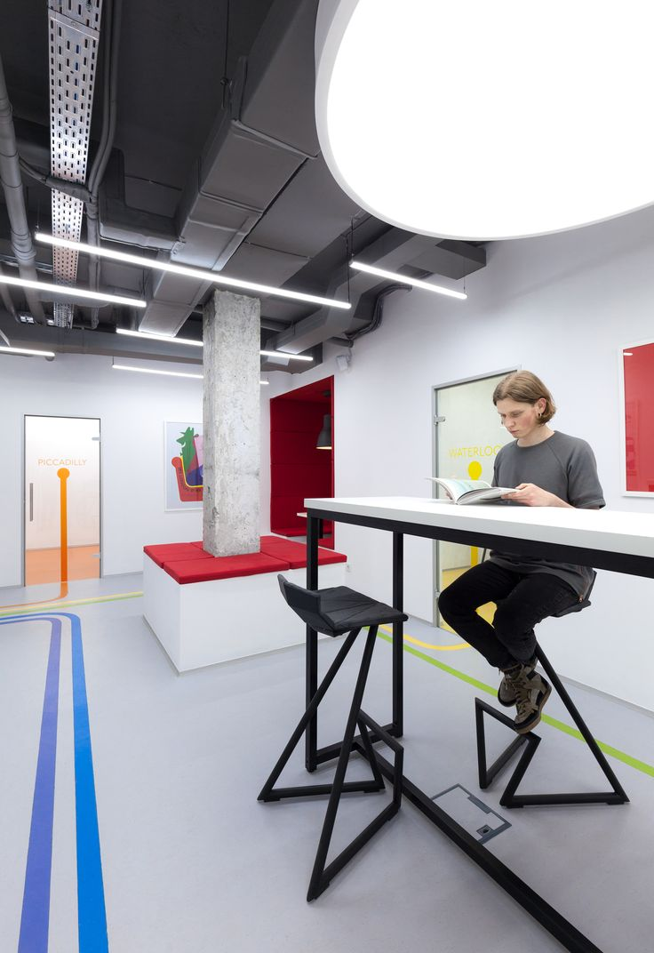 Kiev Based Architect Emil Derish Draw Inspiration From The London Underground To Design Interior Of This Language School In Downtown