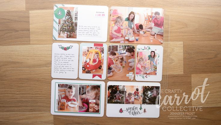 Watercolor Christmas, The Crafty Carrot Co Blog Hop, Project Life, Stampin' Up! Jennifer Frost