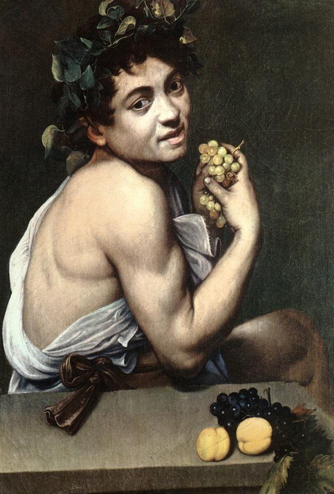 Caravaggio - Bacchino malato, 1593-1594, olio su tela, 67 × 53 cm, Roma, Galleria Borghese.