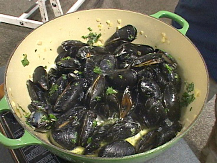 Classic French Mussels recipe from Ham on the Street via Food Network