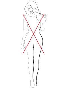 De X-lijn is een variant op het rechte, H-lijn type maar de rechte schouderlijn wordt hier gecombineerd met een duidelijke taille en ronde billen en dijen. De schouders zijn gelijk aan de heupen en het bovenlichaam kan langer zijn in verhouding tot de benen.