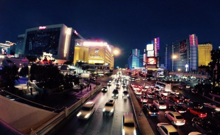 5 Must Do Things in Vegas | Some of the cars navigating the Vegas strip