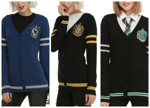 Cardigans For Hufflepuff, Ravenclaw, And Slytherin Complete The Set